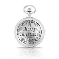 Merry Christmas Mechanical Pocket Watch